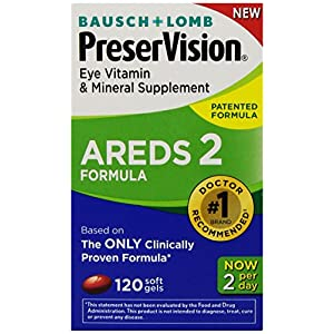 PreserVision AREDS 2 Eye Vitamin & Mineral Supplement with Lutein and Zeaxanthin, Soft Gels, 120ct