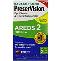 120 Count PreserVision AREDS 2 Eye Vitamin & Mineral Supplement with Lutein and Zeaxanthin, Soft Gels