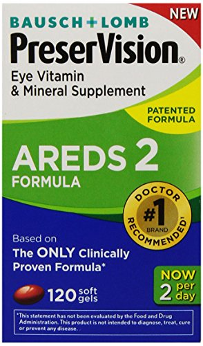 Bausch Lomb Ocuvite Lutein (PreserVision AREDS 2 Eye Vitamin & Mineral Supplement with Lutein and Zeaxanthin, Soft Gels, 120ct)