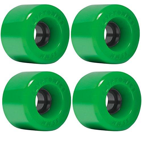 組み立てるキルス擬人化Kryptonics Star Trac Green Skateboard Wheels - 55mm 86a (Set of 4) by Kryptonics