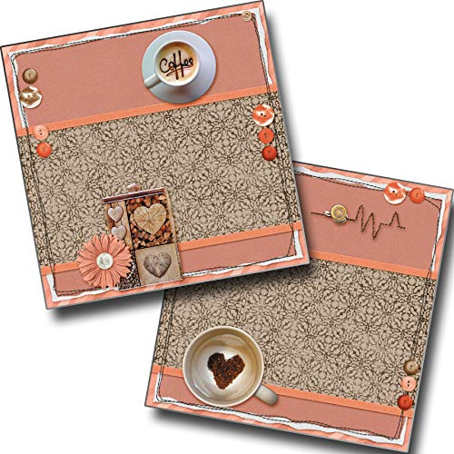 (Coffee NPM - Premade Scrapbook Pages - EZ Layout 3847)