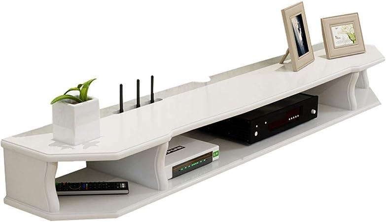 Jsmhh Montado en la Pared de TV Gabinete - TV por Cable Caja/Router/Control Remoto/DVD/Consola de Juegos for TV, TV Flotante Consola de Montaje de la Pared del Estante: Amazon.es: Hogar
