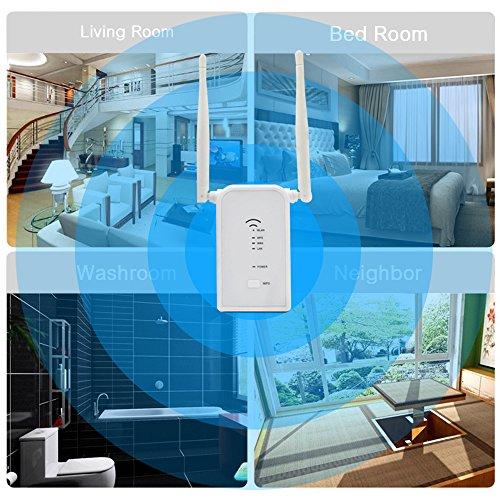 WIFI Range Extender, ZIKO 300Mbs Dual Antenna WIFI Signal Amplifier WiFi Router ExtenderDual Band Wireless Router Extender Wireless Repeater Router Wall Plug Smart Mini WiFi Amplifier by ZIKO (Image #6)