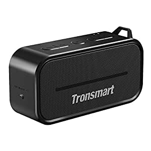 Bluetooth 4.2 Speakers,Tronsmart Element T2 Portable IPX56 Waterproof Outdoor 10W Wireless Speaker with Built-in Mic,12-Hour Playtime and Superior Sound for iPhone7/7Plus/6/6 plus Galaxy S8/S8+(Black)