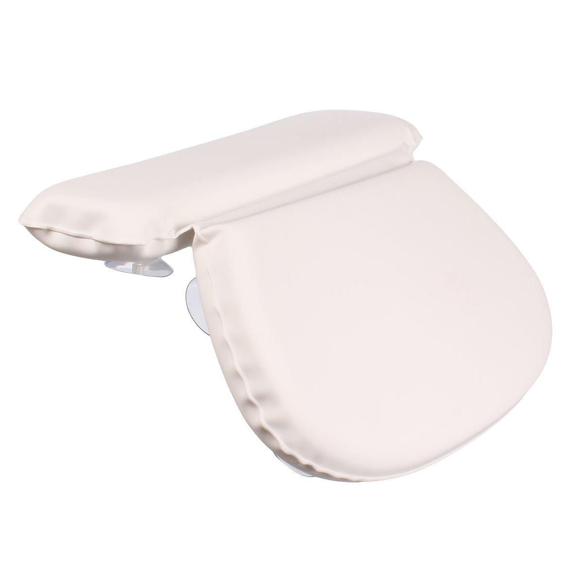 Ezeso Spa Oreiller de bain imperméable antidérapant éponge Coussin en mousse à mémoire appui-tête Soft Shoulder support de cou avec crochets à ventouse EZESO Co. Ltd