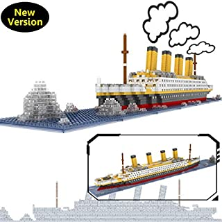 OneNext Titanic Model Building Block Set 1900pcs Mini Blocks DIY Toys Gift for Adults and Kids(with Origin Package Box and Useful Tool)
