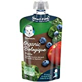 GERBER Organic PURÉE Apple Blueberries Spinach, Baby Food, Meal, 6+ Months, 128 ml, 12 Pack