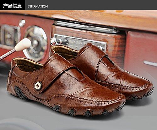 Chaussures Casual brown classique Patins qualité la voiture Chaussures haute conduisant de L'Homme Casual RTYqww