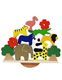 Lewo Wooden Animals Stacking Blocks Balancing Games Playset Montessori Toy for Toddlers BOBEBE Online Baby Store From New York to Miami and Los Angeles