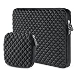 EWWE 3D Protective Laptop Sleeve Case Bag for 15-15.6 inch ASUS ACER HP LENOVO DELL TOSHIBA SAMSUNG Chromebook Notebook Briefcase Cover, Diamond Foam Splash & Shock Resistant with Small Case, Black