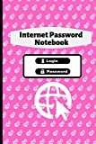 Internet Password Notebook: Log Book For Website Username Passwords and Notes in Alphabetical Order, 120 Pages Size 6' x 9'