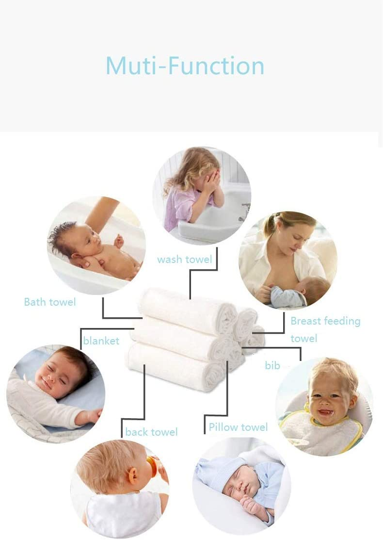 AKK BABY30/% Cotton Receiving Blankets Super Soft Baby Muslin Blankets Super Soft Receiving Blankets Neutral 2 PCS//Pack Large Bamboo Swaddle 47X47 Inch
