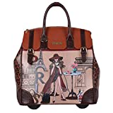 Nicole Lee Women's Exclusive Print Rolling Pink Business Laptop Compartment, Wheeled Travel Tote, Lonely in Paris, One Size