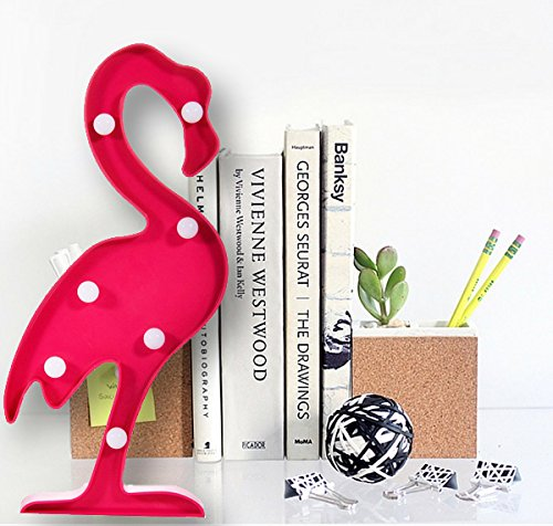 Romantic Flamingo Shaped LED Table Lamp Bedroom College Dorm Room Dresser Table Decorative Night Light