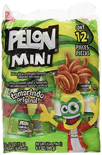 Mini Pelon Pelo Rico Tamarind Push up Candy, 12-Count, 6.3-Ounce Bag