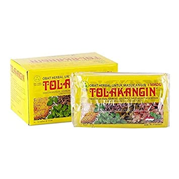 Sido Muncul Tolak Angin Herbal with Honey 12-ct, 180 Ml 6 fl oz Pack of 2
