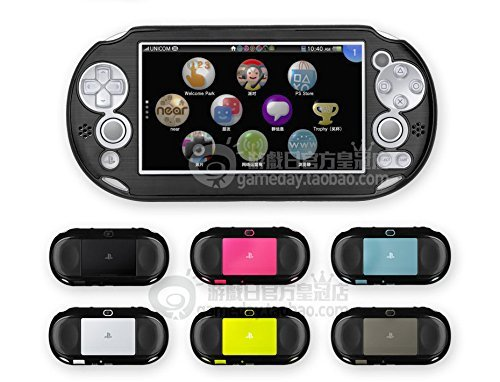 Szjay Metal Aluminum Metallic Protection Hard Case Cover for Playstation Ps Vita 2000 Slim (Black) from szjay