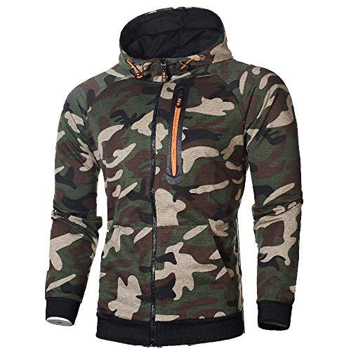 Manches Longues Sweat Veste Glissière Hommes À Pullover Vert Tops Blouse Camouflage Hoodie Amlaiworld Sportswear Capuche ❤️manteau Homme Pull nUxvqHvR8