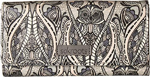Sakroots Artist Circle Snap Trifold Wallet, Dove Soulful, used for sale  Delivered anywhere in USA