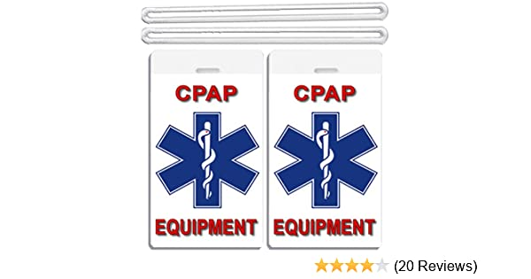 bd2faff07e26 2x Medical CPAP Equipment Luggage Tags TSA Carry-On CPAP BiPAP APNEA ...