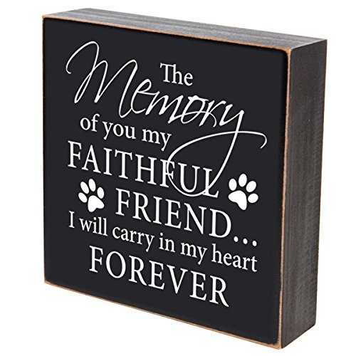 The Memory Of You My Faithful Friend loss of pet memorial gift keepsake The Memory of you my faithful friend shadow box 6x6 by DaySpring Milestones (The memory of you my faithful pet) (Shadow Box Urn)