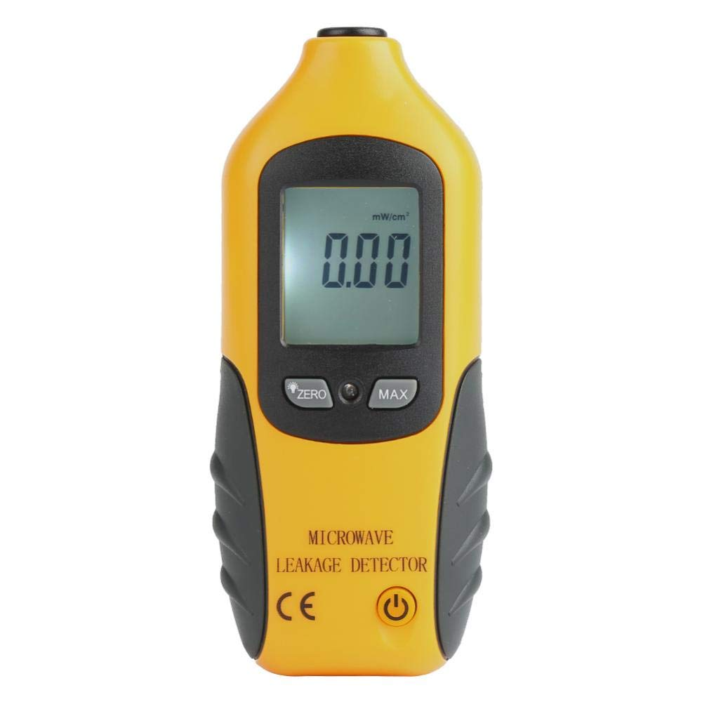 Akozon Microwave Detector, HT-M2 Digital LCD Display Microwave Leakage Detector, High Precision Radiation Meter Tester, High Sensitivity to Radiation and Built in Alarm Function
