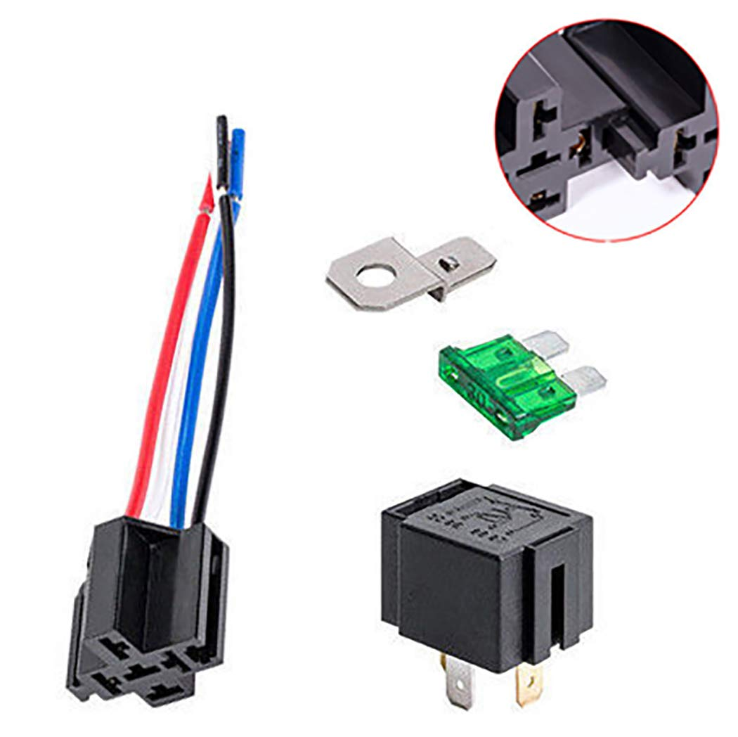 4-Pin 30A Relays Automatic With Fuse Relay 12V DC Coil Voltage
