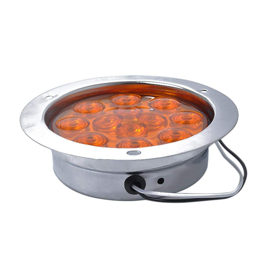 12 LED Stop Trailer Light,12-24V Round Reverse Brake Turn Signal Rear Tail Light for Van Truck,Lorry,Tractor