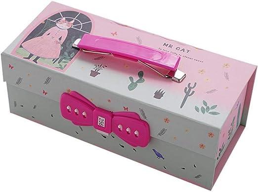 Estuche para lápices, estuche para bolígrafos con cierre de contraseña con espejo, gran capacidad, organizador de almacenamiento para niñas, niños, estudiantes, adultos, regalos cat_family: Amazon.es: Hogar