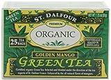 ST. DALFOUR Green Tea, Golden Mango, 25-Count Tea Bags (Pack of 6)