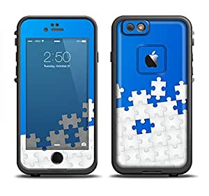 The Blue & White Scattered Puzzle Skin Set for the Apple iPhone 6 LifeProof Fre Case (Skin Only)