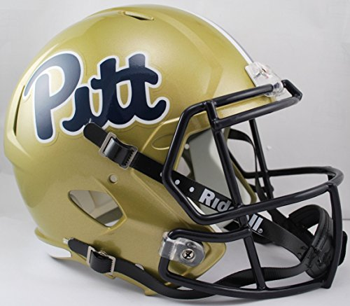 (Riddell NCAA Pittsburgh Panthers Full Size Speed Replica Helmet, Gold, Medium)