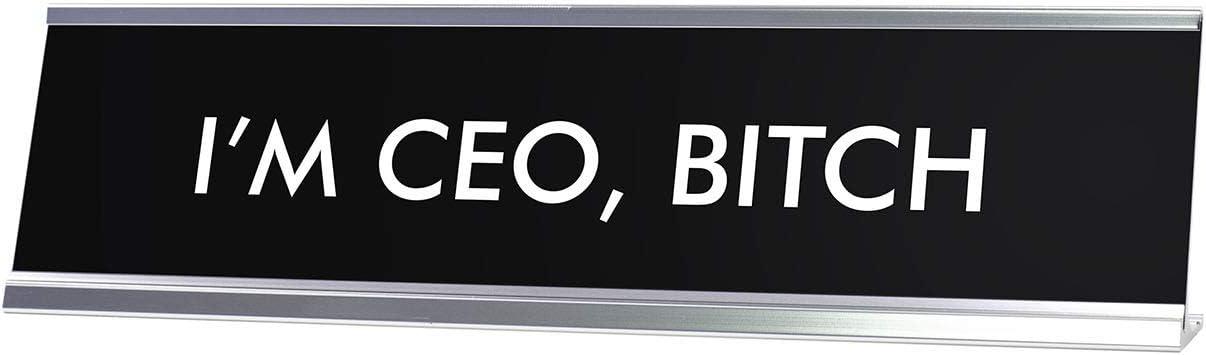 Signs ByLITA I'm CEO, Bitch Novelty Desk Sign