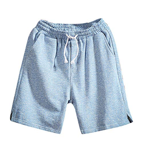 Loose Shorts Men's Summer Pure Color Casual Belt Drawstring for sale  Delivered anywhere in USA