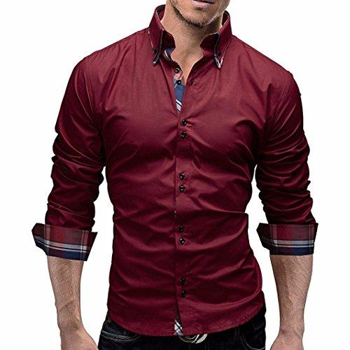 Fashion Men Shirts Long Sleeve Men Shirts Slim Fit Blouse Coat By Orangeskycn