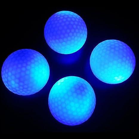 crestgolf Flashing Glowing pelota de golf -- Azul, Night Glow Luz ...