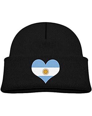 Fashion Argentina Heart Flag Printed Infant Baby Winter Hat Beanie