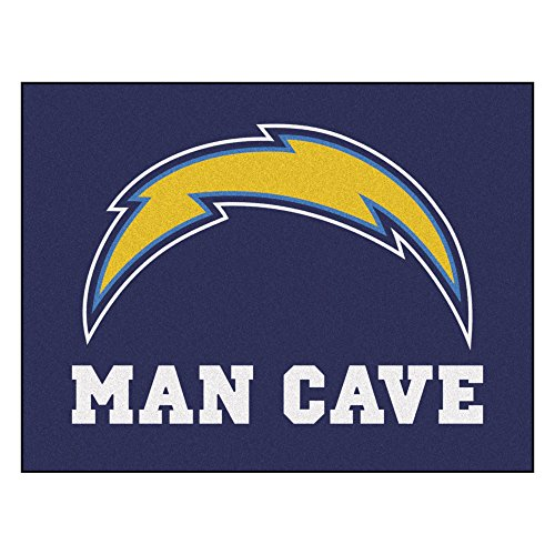 FANMATS 14360 NFL San Diego Chargers Nylon Universal Man Cave All-Star Mat