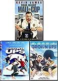 Huge dreams & Big Laughs Double Feature DVD Comedy + Paul Blart Mall Cop Triple Kevin James & Adam Sandler Bundle Movie Set Grown Ups 1 & 2