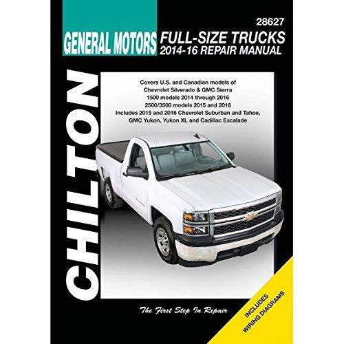 Chevrolet Silverado Chilton Automotive Repair Manual 2014-16