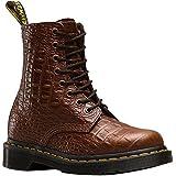 Dr. Martens Women's Pascal Croc Dark Brown Fashion Boot, 4 Medium UK (6 US)