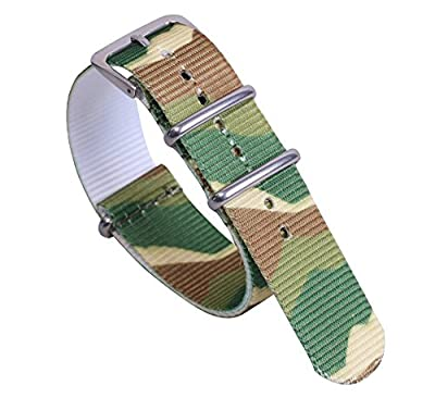 Multicolor Durable Stylish Nylon NATO style Watch Straps Bands Replacements for Men Women