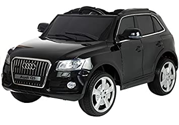 Voiture Q5 Toys Électrique Pneus En Audi Cuir Lean Enfant Eva Noir dxCBreo