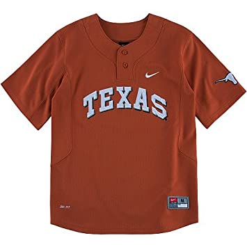 NIKE Youth Texas Longhorns Replica Dri-Fit Baseball Jersey (Youth Large)