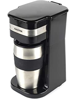 Vonshef One Cup Personal Filter Coffee Machine With 420ml Travel Mug