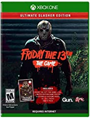Friday the 13th: the game Ultimate slasher Edition comes equipped with the game, a 13x19 game poster and all available DLC released for the game. This definitive collection Includes single player challenges, virtual cabin 2.0, all kills for J...