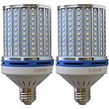 40W LED Corn Light Bulb Daylight 6000k Super Bright 400 Watt equiv. 2 Packs. Large Light Bulbs E26/E27 Daylight White…