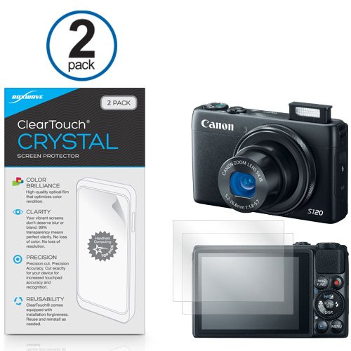 Canon Powershot S120 Screen Protector, Boxwave [Cleartouch Crystal (2-Pack)] Hd Film Skin - Shields From Scratches Canon Powershot S120
