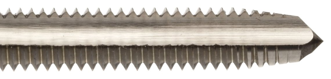 Bright Uncoated 3//8-16 Thread Size Union Butterfield 1508 Round Shank with Square End UNC High-Speed Steel Hand Tap Finish Bottoming Chamfer