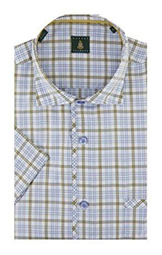 Robert Talbott White and Yellow Check The San Carlos Short Sleeve Shirt M by Robert Talbott